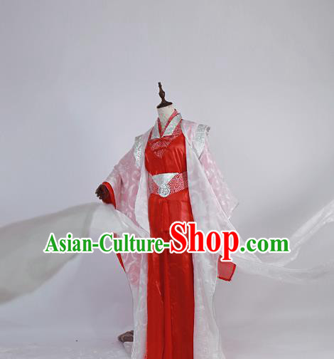 Chinese Traditional Ancient Swordsman Bridegroom Wedding Costumes for Men