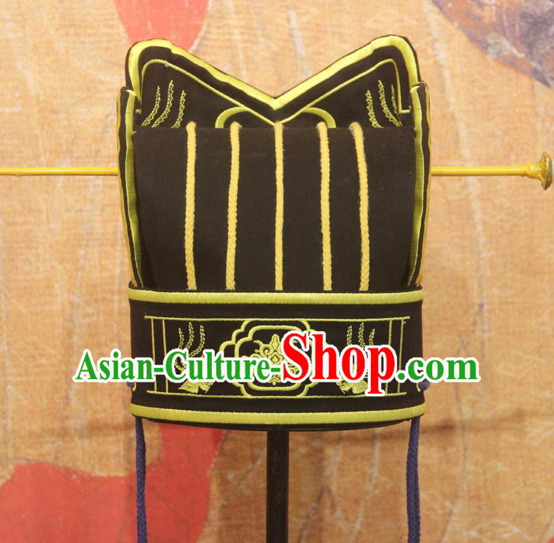 Chinese Traditional Ancient Ming Dynasty Official Hat for Men