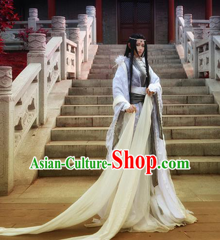 Chinese Traditional Ancient Royal Highness Swordsman Costumes for Men
