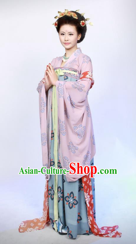 Chinese Traditional Palace Lady Hanfu Dress Ancient Tang Dynasty Imperial Consort Costumes for Women