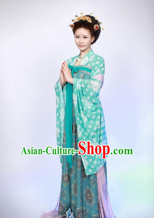 Chinese Traditional Ancient Imperial Consort Hanfu Dress Tang Dynasty Historical Costumes for Women