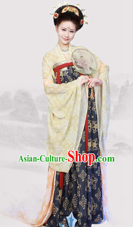 Chinese Traditional Ancient Historical Hanfu Dress Tang Dynasty Imperial Consort Costumes for Women