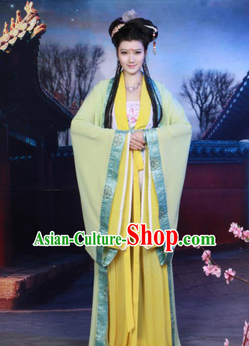Chinese Tang Dynasty Imperial Consort Embroidered Hanfu Dress Ancient Peri Historical Costumes for Women