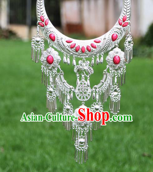 Chinese Traditional National Ethnic Necklace Tassel Necklet Jewelry Accessories for Women