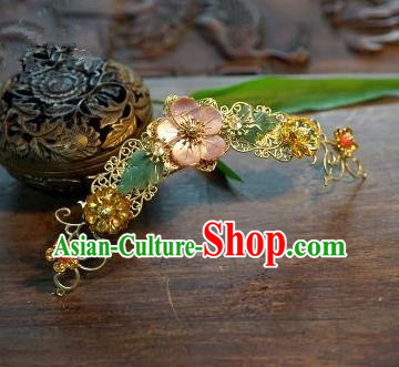 Chinese Handmade Classical Hairpins Hair Stick Hair Accessories Ancient Bride Headwear for Women