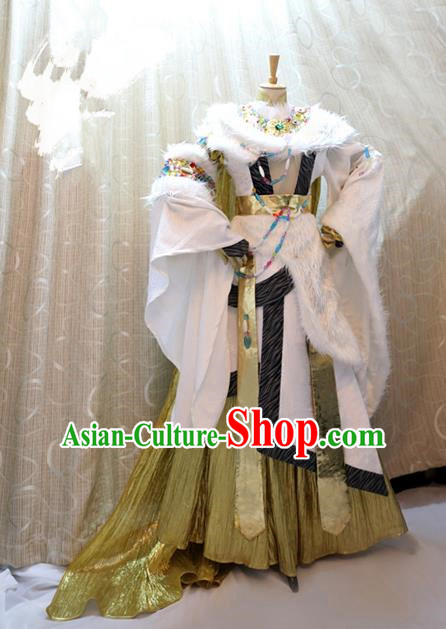 China Ancient Cosplay Swordswoman Clothing Traditional Han Dynasty Palace Princess Dress for Women