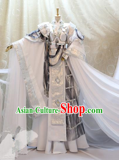 Ancient China Cosplay Han Dynasty Royal Highness Swordsman Costumes Nobility Childe Clothing for Men
