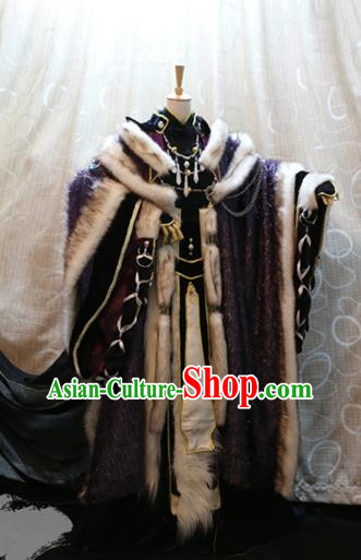 Ancient China Cosplay Royal Highness Costumes Swordsman Clothing for Men