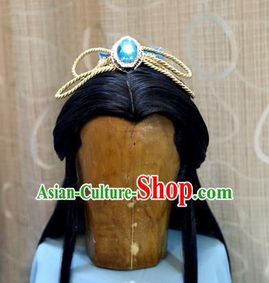 China Ancient Tang Dynasty Cosplay Swordsman Prince Wig Sheath and Hair Accessories Hairpins
