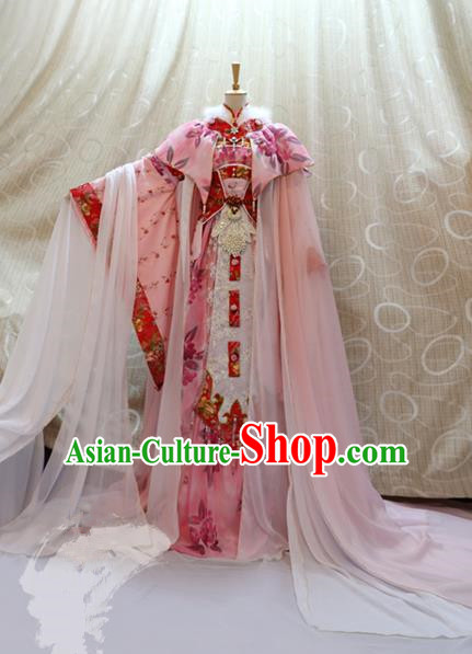 Traditional China Ancient Cosplay Tang Dynasty Palace Princess Costumes for Women