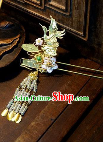 Chinese Handmade Classical Hair Accessories Tassel Step Shake Ancient Bride Hairpins for Women