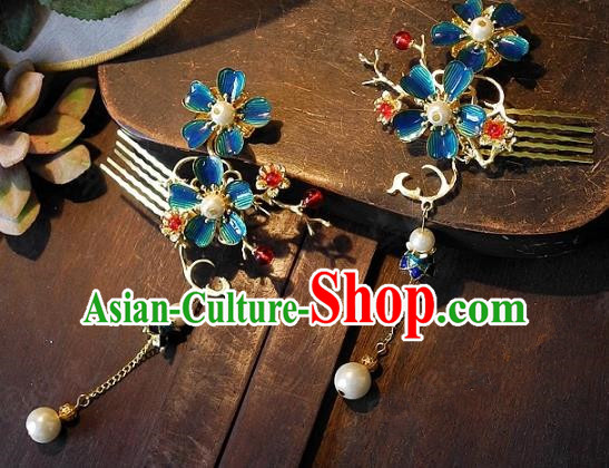 Chinese Handmade Classical Wedding Hairpins Ancient Hanfu Hair Accessories Hair Comb for Women