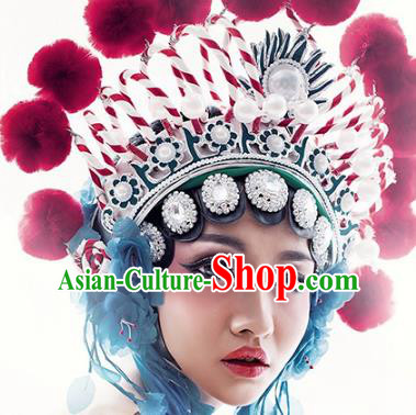 Traditional Handmade Chinese Beijing Opera Phoenix Coronet Headwear for Women
