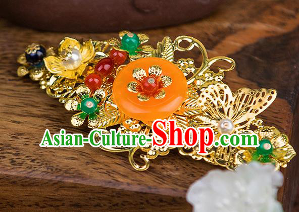 Handmade Asian Chinese Ancient Palace Lady Hair Accessories Hanfu Jade Hair Comb for Women