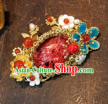Asian Chinese Traditional Handmade Brooch Jewelry Accessories Palace Lady Breastpin for Women