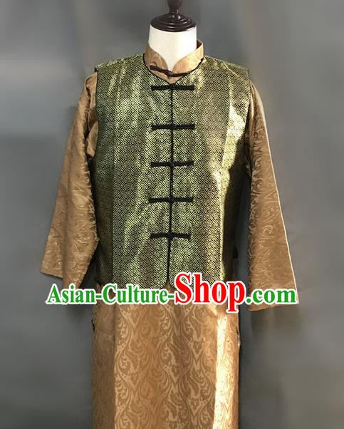 Traditional Chinese Stage Performance Costume Ancient Qing Dynasty Royal Highness Clothing for Men