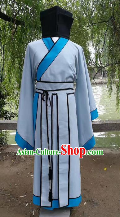 Traditional Chinese Stage Performance Costume Ancient Han Dynasty Scholar Clothing for Men