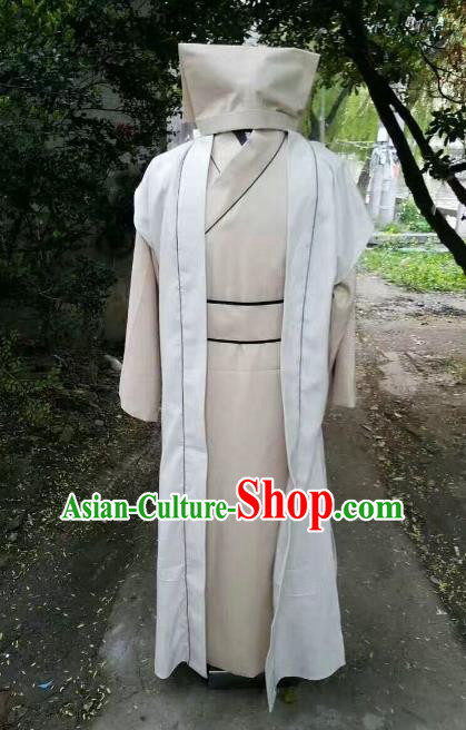 Traditional Chinese Stage Performance Costume Ancient Song Dynasty Landlord Clothing for Men