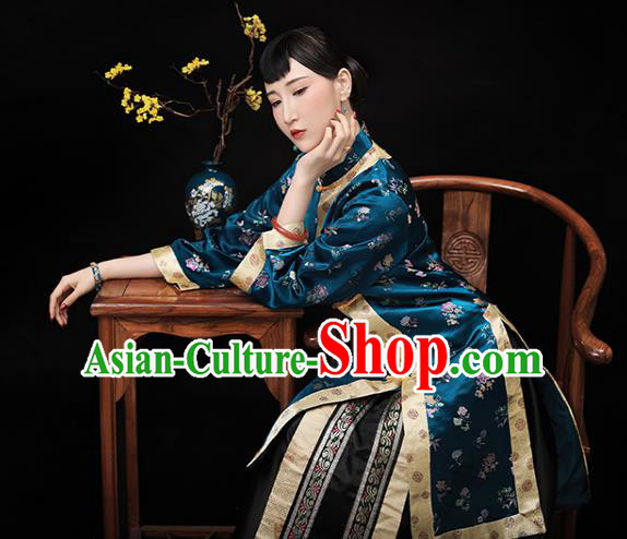 Traditional Chinese Republic of China Costume Ancient Young Mistress Embroidered Xiuhe Suit for Women