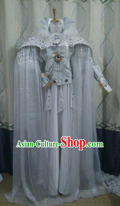 Traditional China Ancient Cosplay Swordsman Costume Fairy Dress for Women