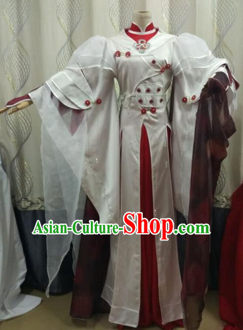 Traditional China Ancient Cosplay Swordsman Costume Fancy Dress Fairy Dress for Women