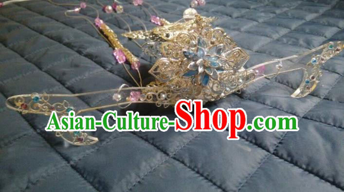 Traditional China Ancient Cosplay Swordswoman Palace Lady Hair Accessories Hairpins for Women