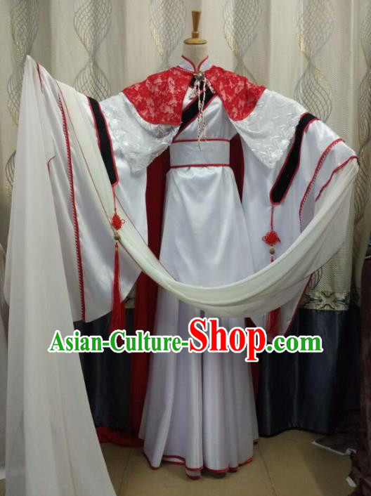 Traditional China Ancient Cosplay Swordsman Fairy Costume Fancy Dress for Women