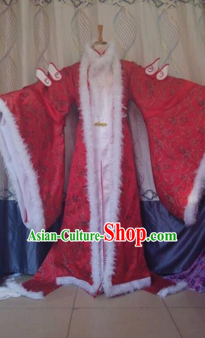 Traditional China Ancient Cosplay Queen Hanfu Costume Complete Set for Women