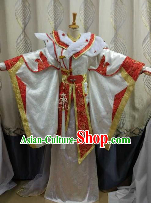China Ancient Cosplay Costume Female Knight-errant Fairy Fancy Dress Traditional Hanfu Clothing for Women