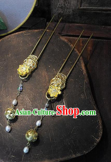 Chinese Handmade Classical Hair Accessories Ancient Wedding Hanfu Hair Stick Hairpins Headwear for Women