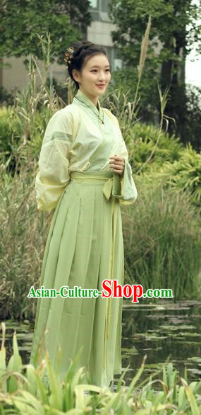 Asian China Ancient Swordswoman Costume Chinese Ming Dynasty Young Lady Clothing for Women