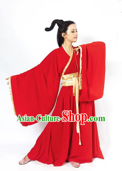 China Ancient Fairy Han Dynasty Palace Lady Dance Dress Clothing for Women