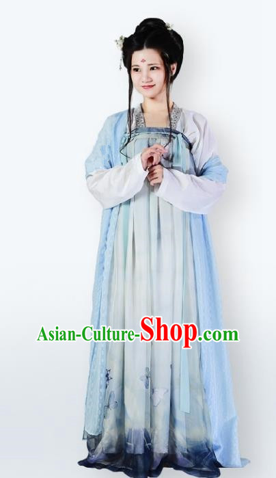 Traditional Chinese Tang Dynasty Imperial Concubine Slip Dress Ancient Palace Lady Costume for Women