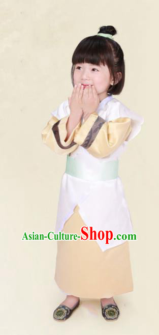 Traditional Chinese Han Dynasty Swordsman Costume Ancient Scholar Clothing for Kids