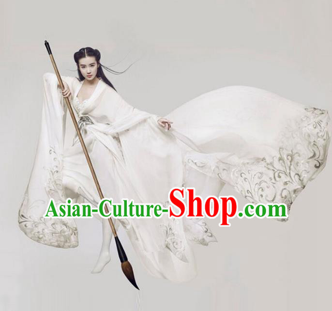 Traditional Chinese Ancient Swordswoman Costume, China Tang Dynasty Palace Lady Clothing for Women