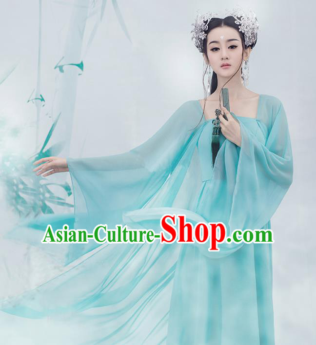 Traditional Chinese Ancient Palace Princess Costume, China Tang Dynasty Fairy Clothing for Women