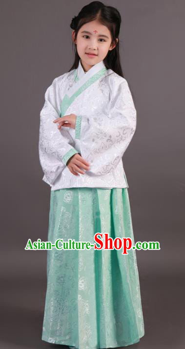 Traditional China Ming Dynasty Palace Lady Costume, Chinese Ancient Princess Hanfu Clothing for Kids