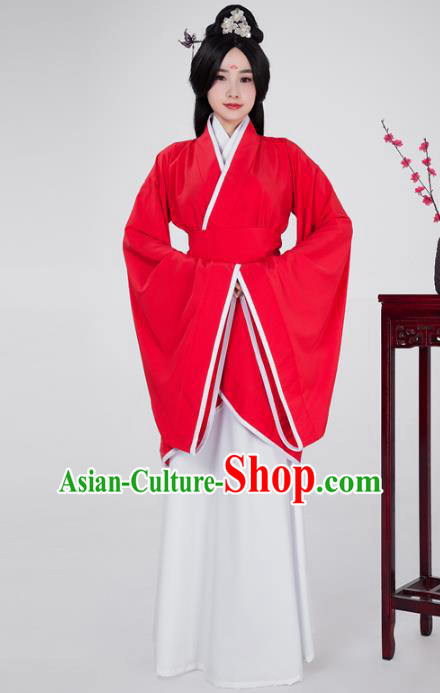 Traditional China Han Dynasty Imperial Princess Costume, Chinese Ancient Palace Lady Hanfu Clothing for Women