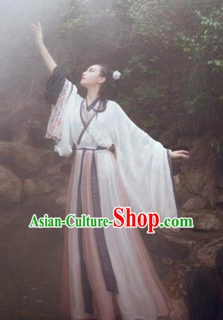 China Ancient Jin Dynasty Nobility Lady Costume Traditional Chinese Princess Dress Clothing for Women