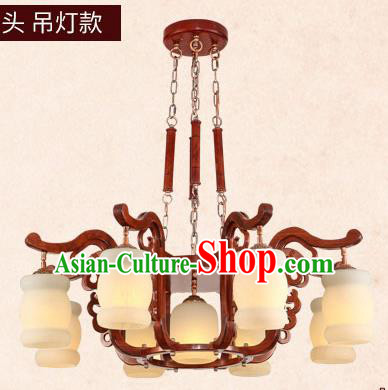 Traditional Chinese Wood Hanging Ceiling Lanterns Ancient Handmade Marble Lantern Ancient Lamp
