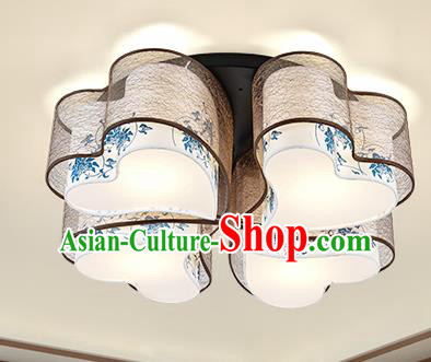 Traditional Chinese Petal Ceiling Lanterns Ancient Handmade Lantern Ancient Lamp