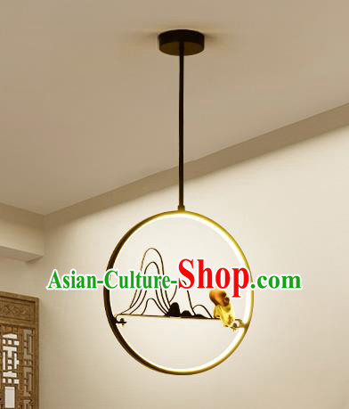 Traditional Chinese Hanging Ceiling Lanterns Ancient Handmade Round Lantern Ancient Lamp