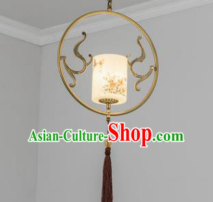 Traditional Chinese Ceiling Lanterns Ancient Handmade Painting Flowers Hanging Lantern Ancient Lamp