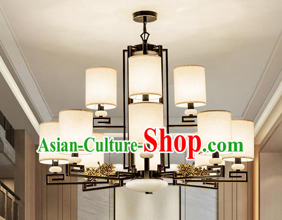 Traditional Handmade Chinese Twelve-Lights Hanging Lanterns Ancient Ceiling Lantern Ancient Lamp