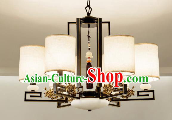 Traditional Handmade Chinese Six-Lights Hanging Lanterns Ancient Ceiling Lantern Ancient Lamp