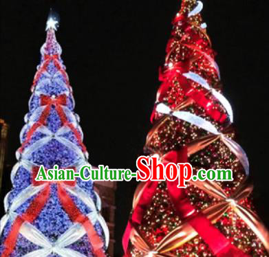 Traditional Shiny Bowknot Christmas Tree Lamps Stage Display Lights Decorations Lamplight LED Lanterns