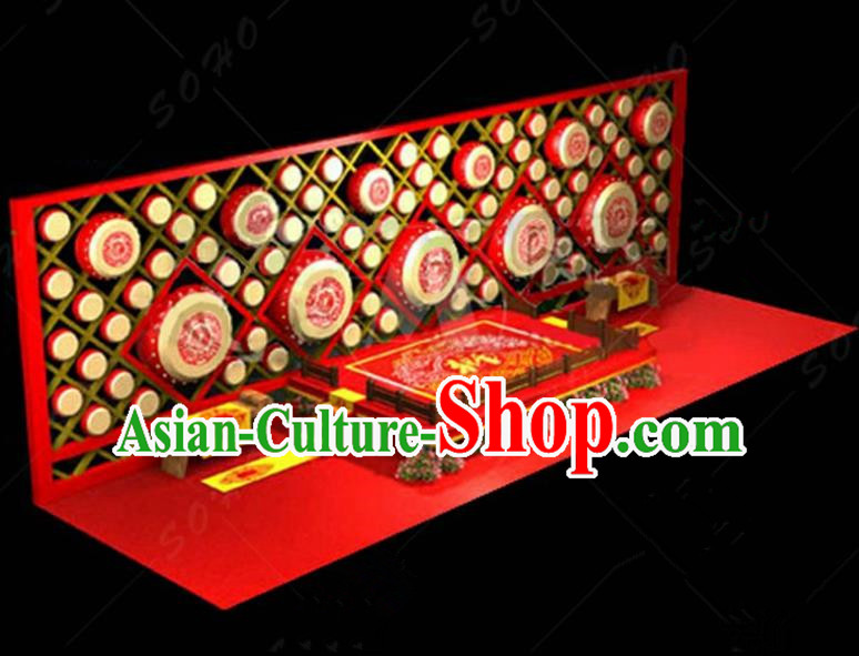 China Traditional New Year Lamp Lamplight Decorations Red Stage Display Lanterns