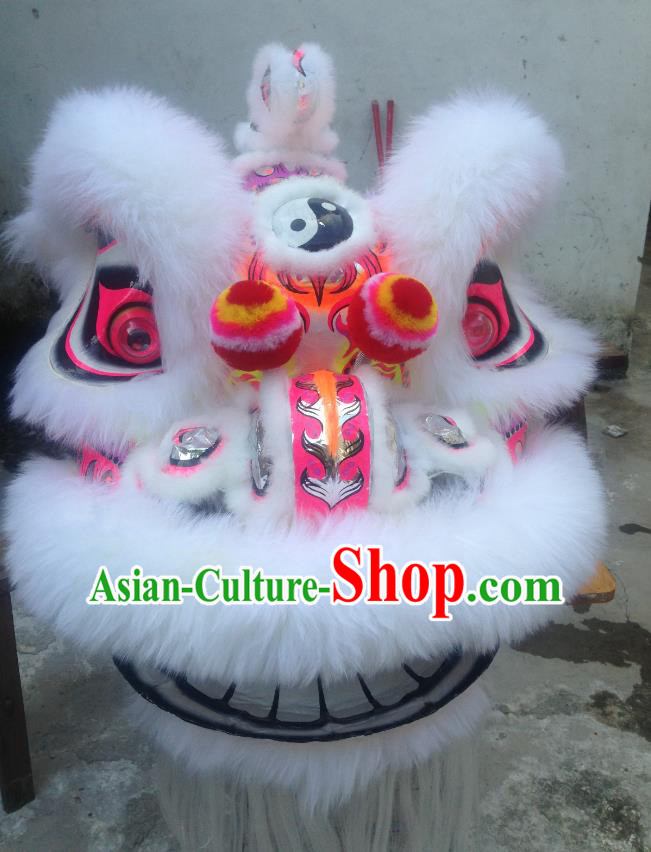 Chinese Professional Lion Dance Costumes Celebration and Parade Wool Lion Head Complete Set