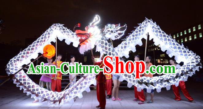 Chinese Traditional Dragon Dance LED Lights Costumes Professional Lantern Festival Celebration Dragon Parade Complete Set