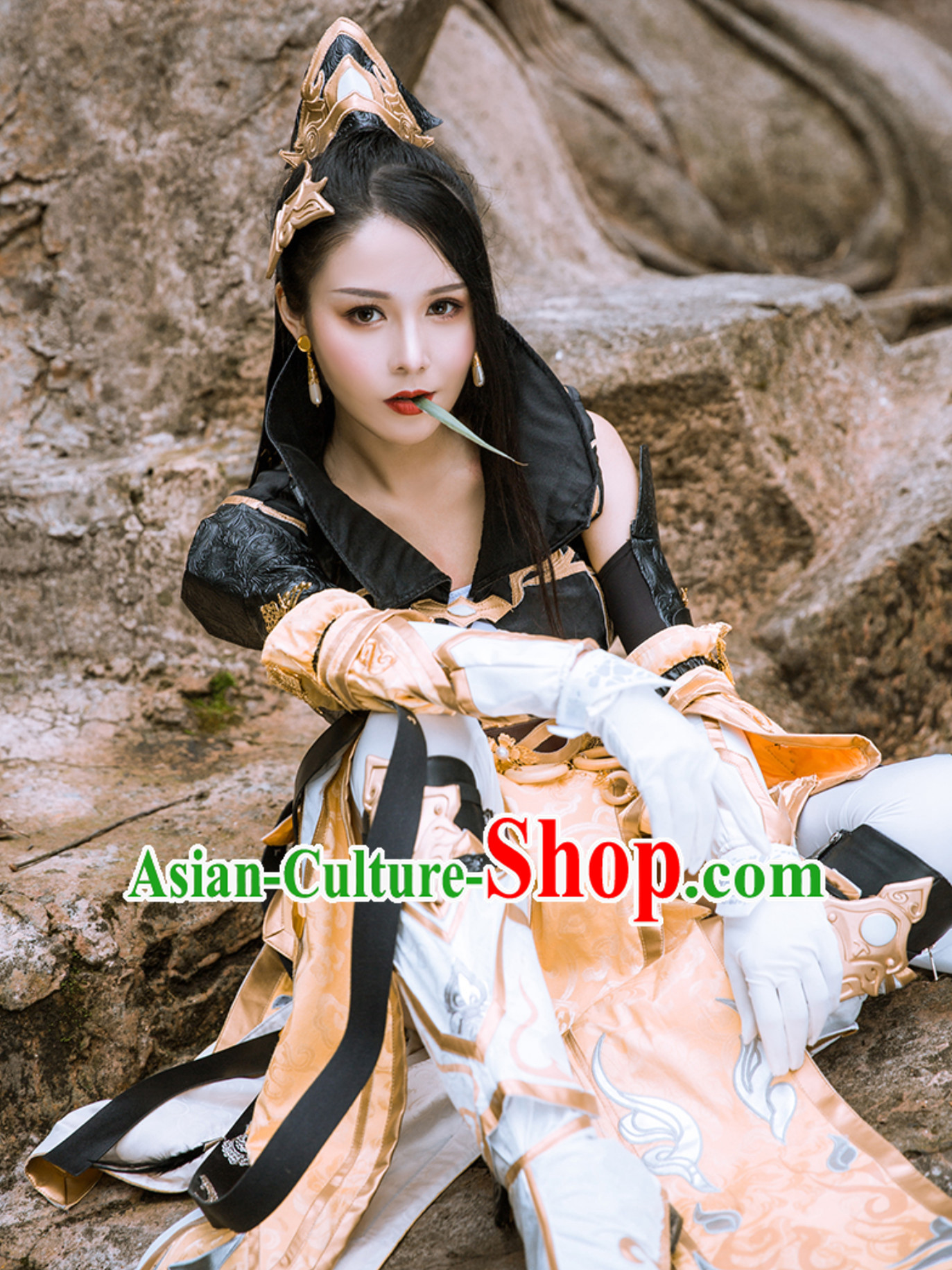 Asian Sexy Chinese Style Future Warrior Anime Costumes Superhero Costume Stage Film Accessories Complete Set